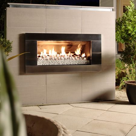 Escea EF5000 Outdoor Gas Fireplace - Stainless Steel Fascia - $4,605