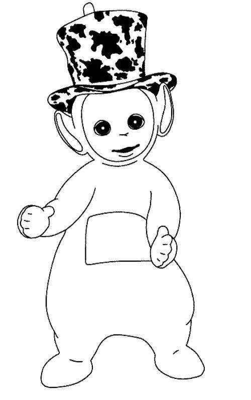 dipsy coloring page - Teletubbies Dipsy Coloring Pages