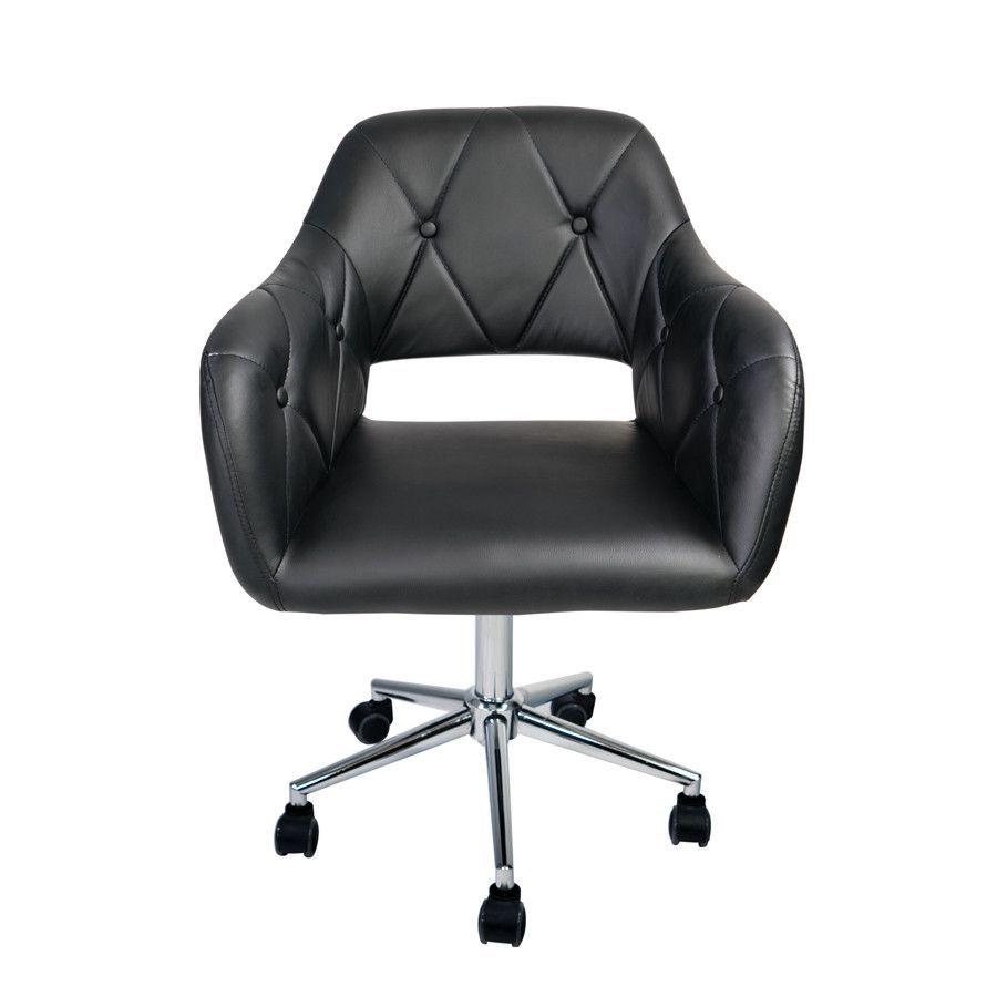 Brittney tufted leatherette vanity chair vanitychair