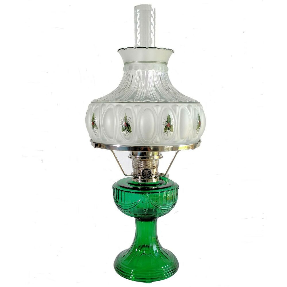 NEW ALADDIN LAMP LINCOLN DRAPE LAMP WITH CHRISTMAS HOLLY