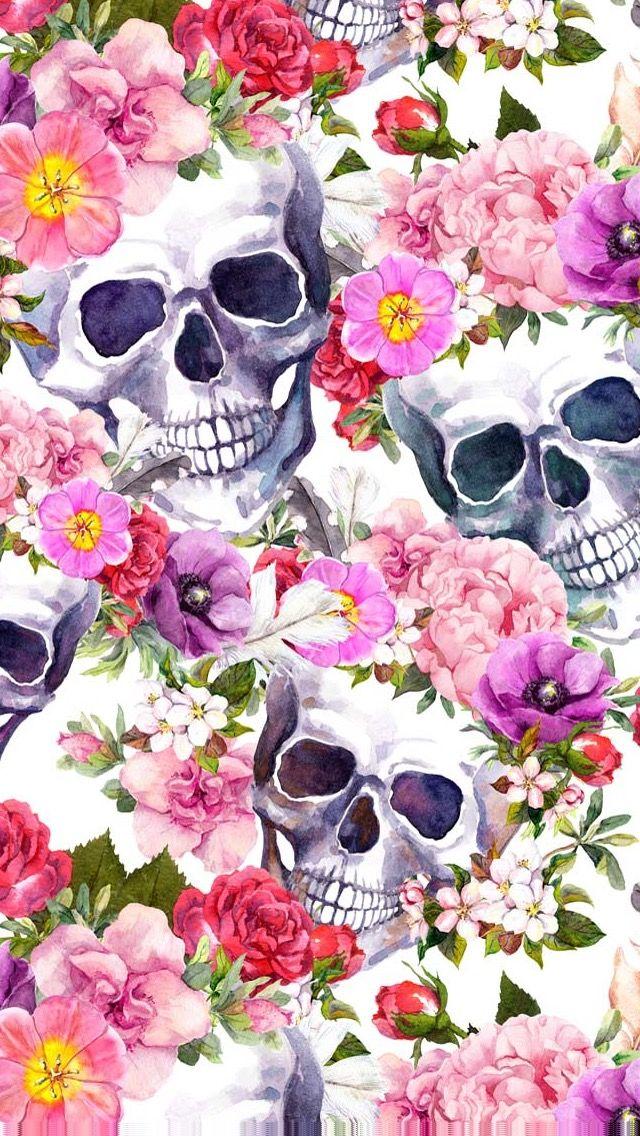 Pin by emma donaldson on the darkside in 2019 skull - Skull wallpaper iphone 6 ...