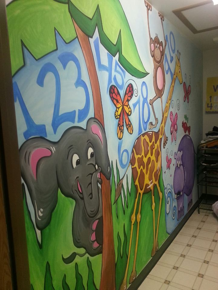 Mural, Daycare Center Bathroom. (With Images)