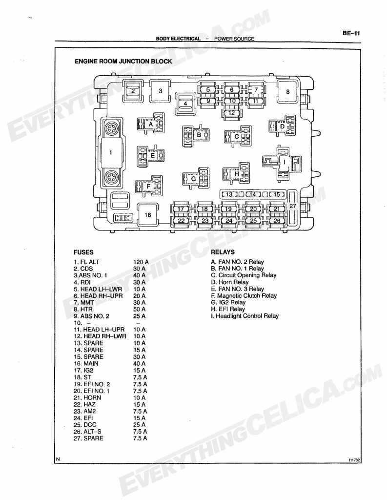WFU 40] 40 Toyota Celica Fuse Box   power demand wiring diagram ...
