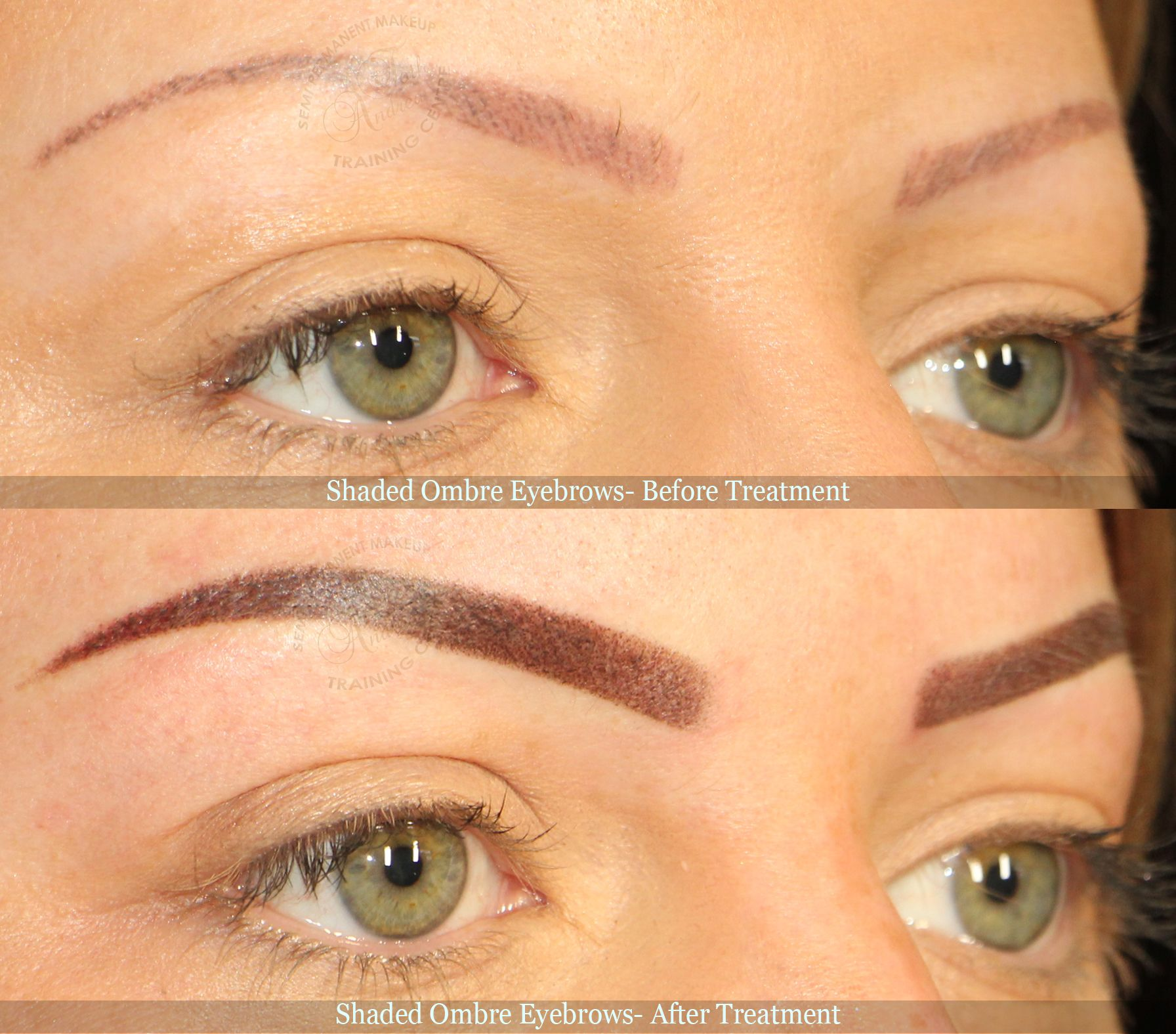 Shaded Ombre Eyebrows Before After Pictures What Are You