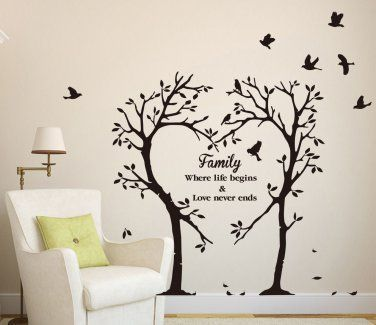 LARGE Family Inspirational Love Tree Wall Art Sticker Wall Sticker Decalart