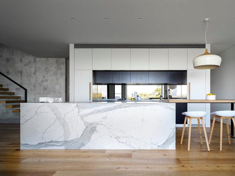 Marmol para el diseño de cocinas modernas deslumbrantes.Variantes de ...