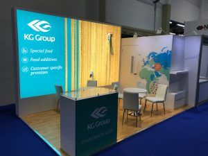 Exhibition Stand Builders In Abu Dhabi : Exhibition stand design and build for the kg group viv mea