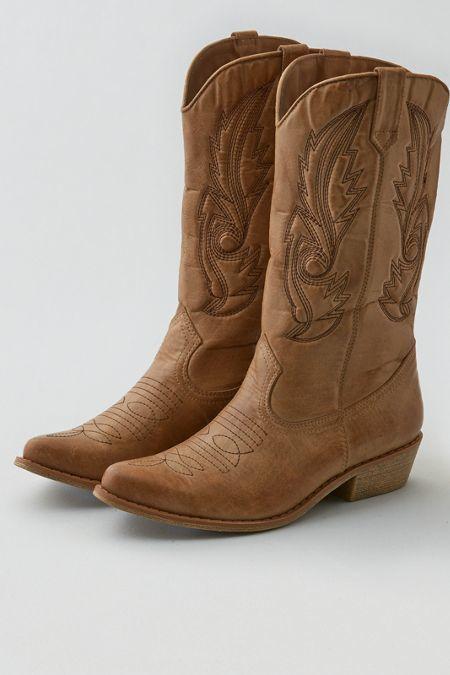 damen cowboy stiefelette braun