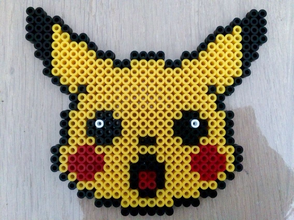 pokemon pikachu en perle hama perler pokemon pinterest. Black Bedroom Furniture Sets. Home Design Ideas