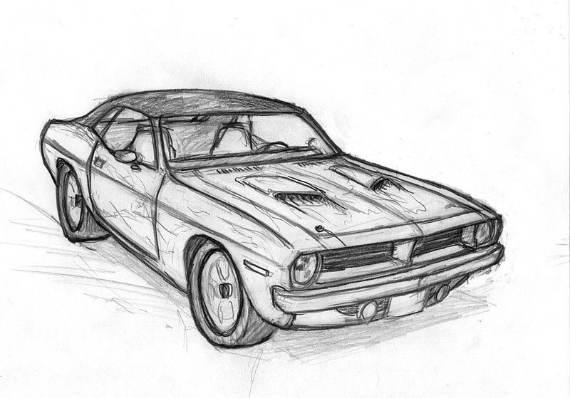 Drawing Classic Muscle Cars Muscle Car Drawings For Sale Muscle