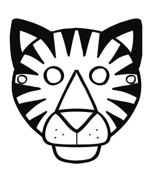 Coloriage tigre pour faire un tigre sur un g teau recettes pinterest coloriage tigre - Photo de tigre a imprimer ...