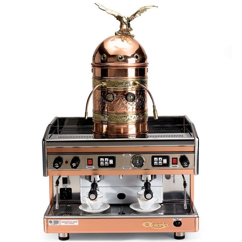 Coffee Espresso Latte Cafe Ivory Brown Kitchen Curtains: The Genuine Italian Astoria Dual Espresso Machine