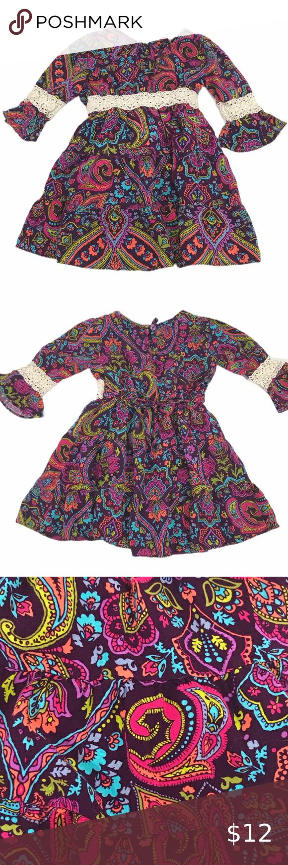 Youngland Multi Color Dress Size 4t Multicolor Dress Dresses Casual Dresses [ 1740 x 580 Pixel ]