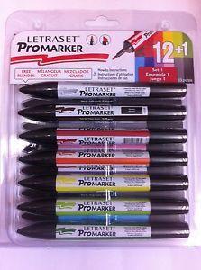 Letraset Promarker Permanent Twin Tip 12 Pack Set 1 Set 2