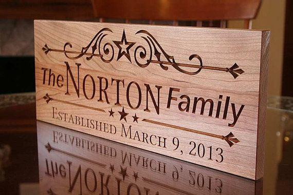 Family Sign Wedding Sign Business Sign Wood Signs Name Sign Established Date Anniversary Personalized C Carved Wood Signs Family Wood Signs Hand Carved Signs