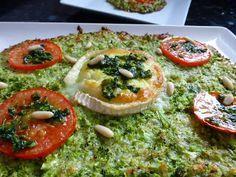COCINA CON VISTAS: Pizzacoli (Masa de pizza de brócoli) con Queso de Cabra.