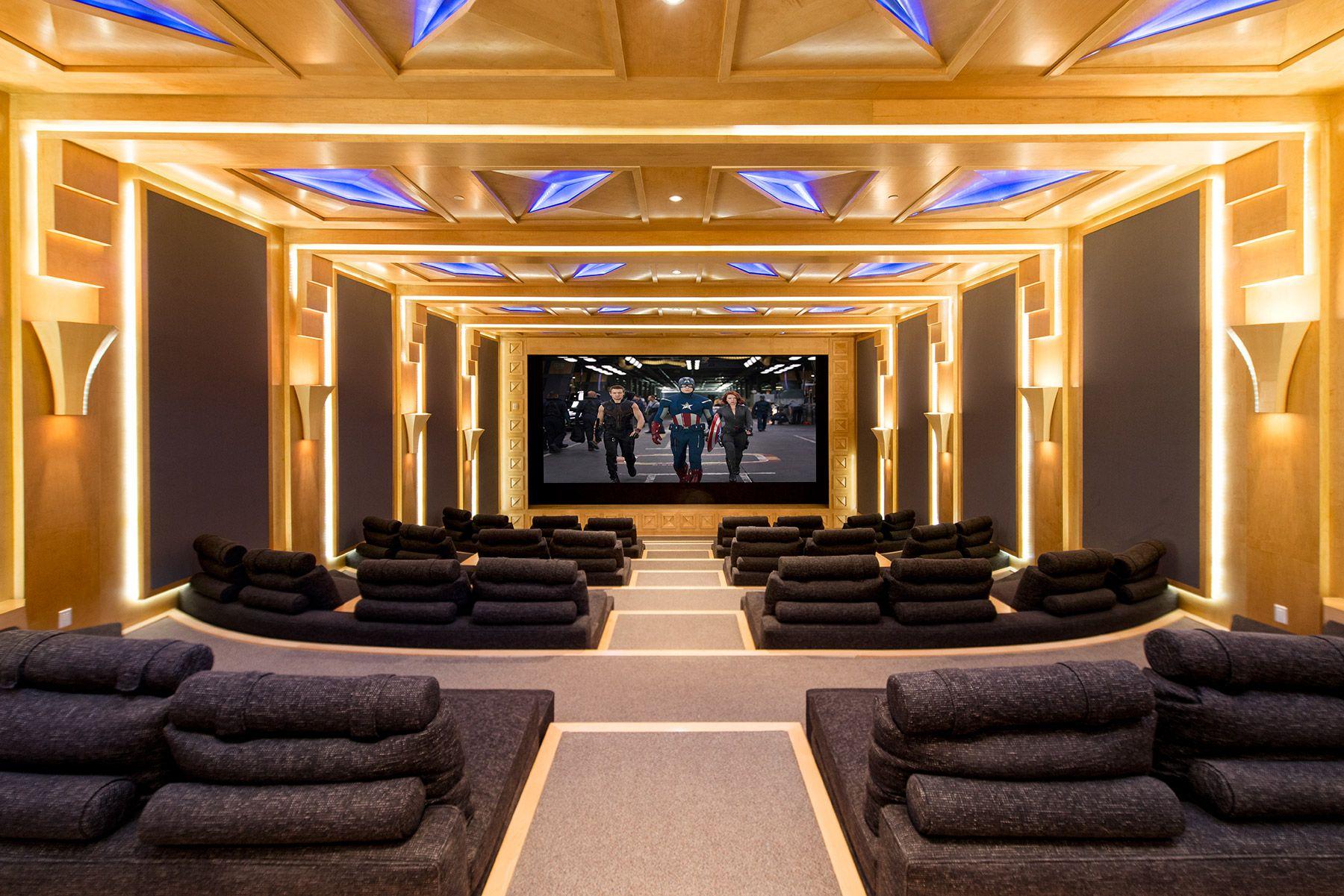 Modern home theatre decor canada