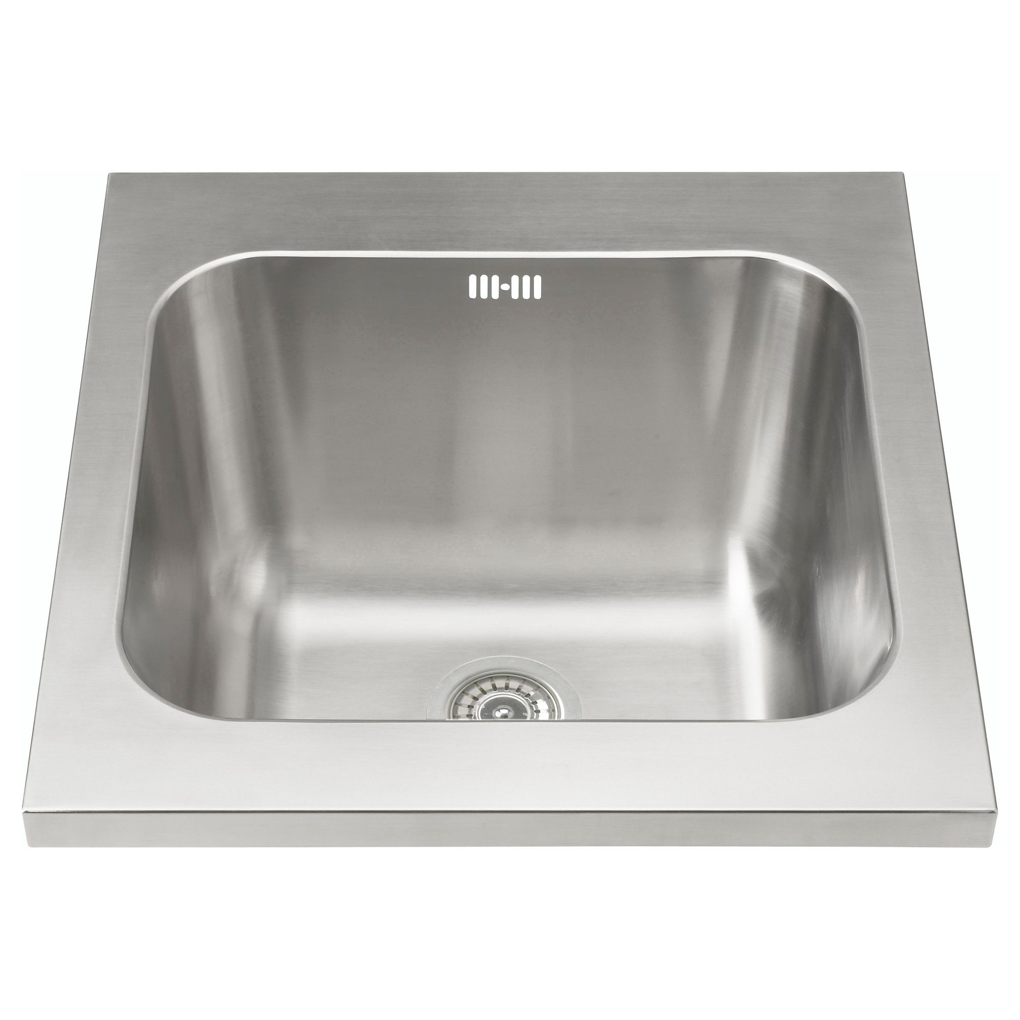 Charming NUMERÄR Sink Bowl, Stainless Steel IKEA FAMILY Has A Washboard At An Angle  In The