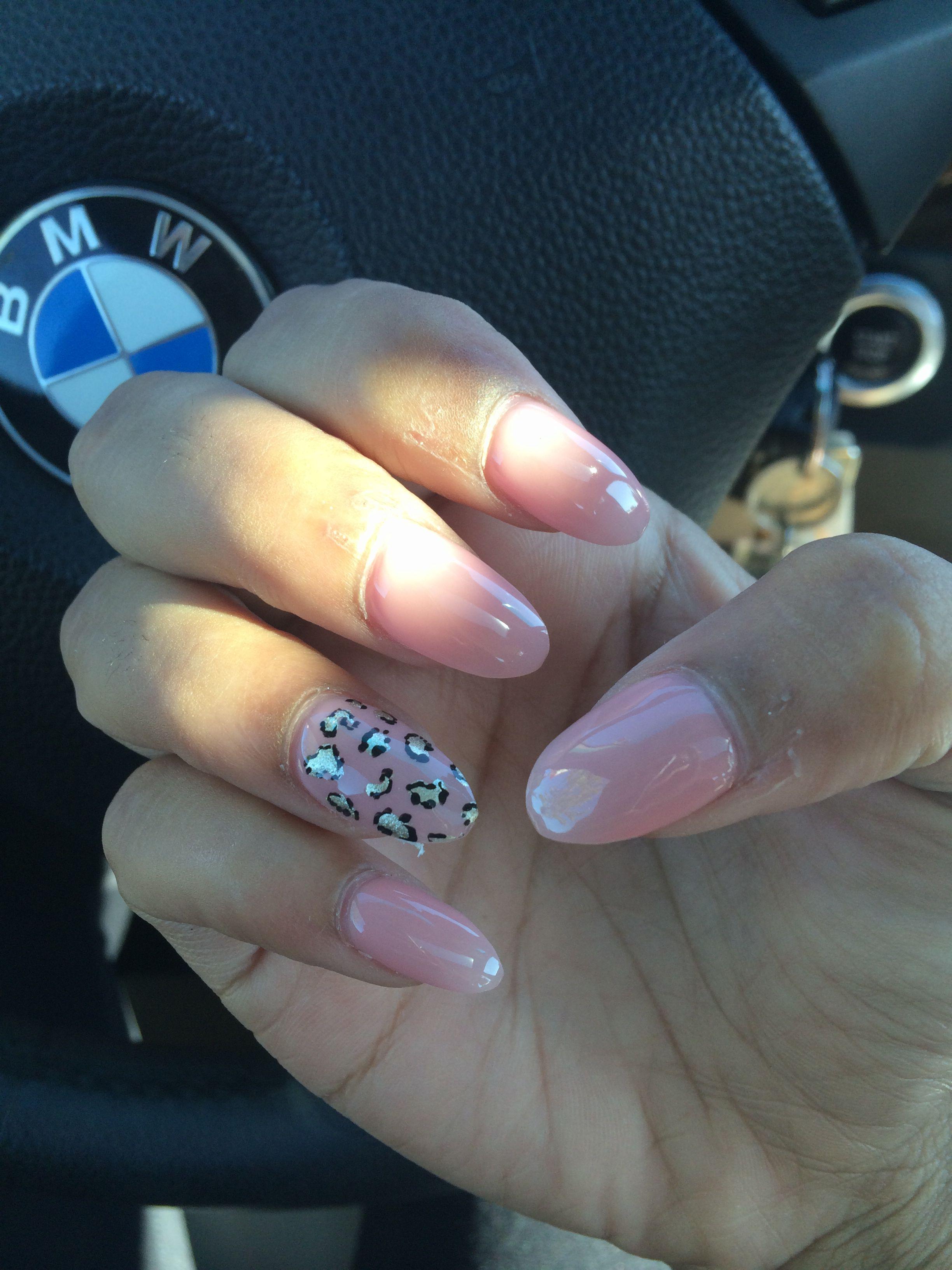 Stiletto nails with Cheetah print