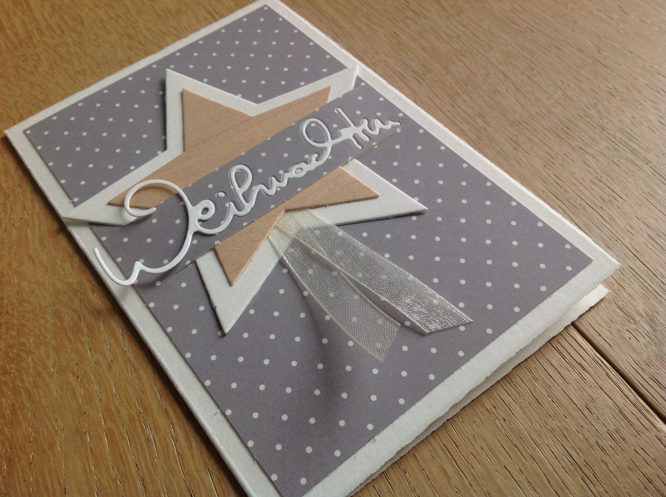 weihnachtskarte alexandra renke furnierholz stern wortstanze herausspringende schrift. Black Bedroom Furniture Sets. Home Design Ideas