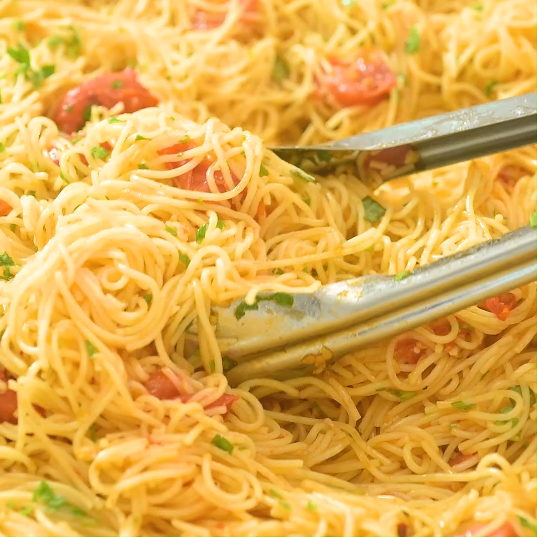 Easy Angel Hair Pasta #oliveoils