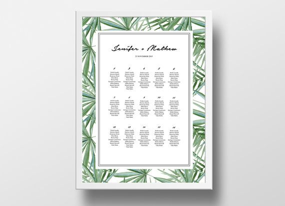 printable seating chart poster template editable by xobspoke seating chart wedding template wedding templates
