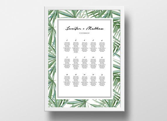 Printable Seating Chart Poster Template Editable by xoBSpoke - printable seating charts