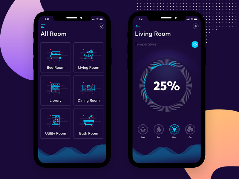 Smart Home Android App Design Smart Home Android Design