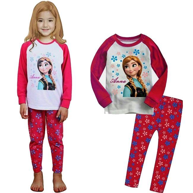 BNWT Long Sleeve and long Lovely Girls Frozen 2 Piece Pyjama Set Anna /& Elsa