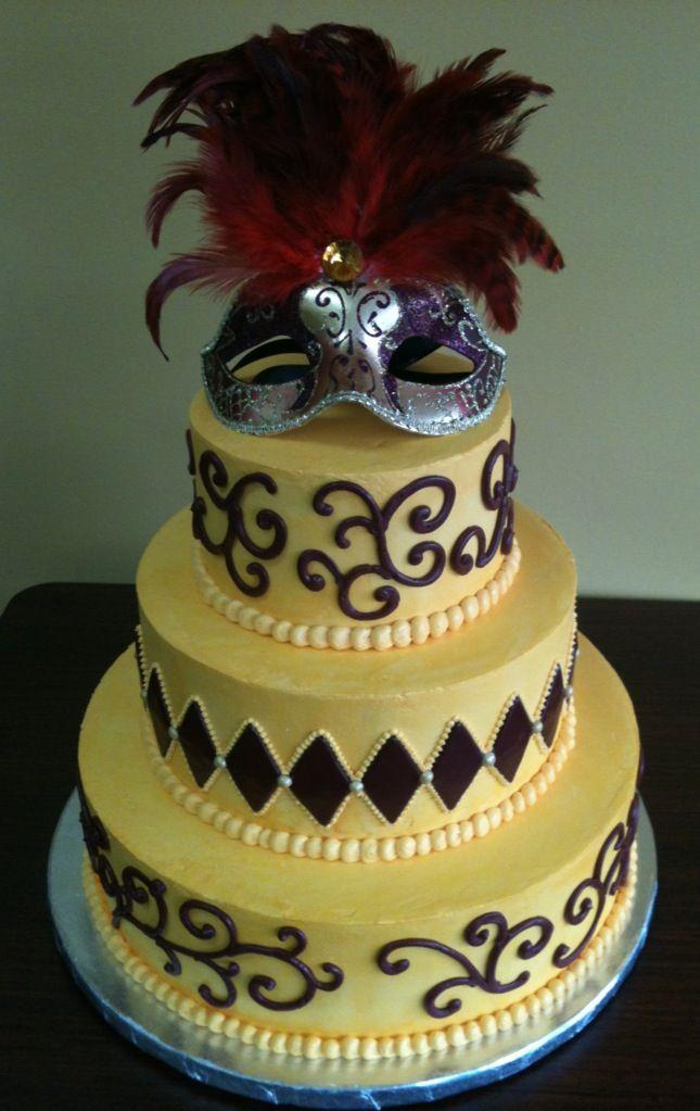 A masquerade wedding cake! <3 | Cakes by Kryssie | Pinterest ...