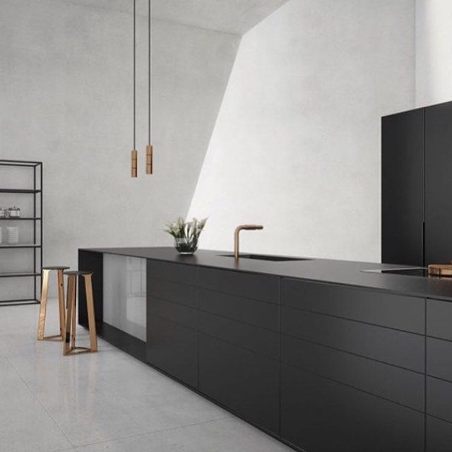 Every One Needs A Black Kitchen Inspo In Their Lives Even: Pin By Michelle Deng On Home