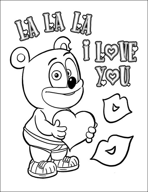 Third Annual Gummibar Valentine S Day Coloring Page And Contest