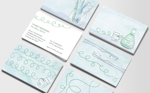 Minty Floss Business Cards Dental Business Cards Dental Business Doctor Business Cards
