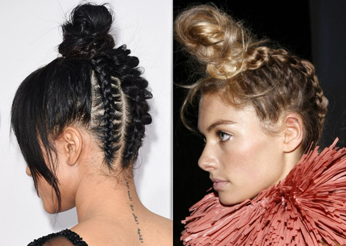6 top trendy updo hairstyles 2017 spring braided top knots 6 top trendy updo hairstyles 2017 spring braided top knots pmusecretfo Choice Image