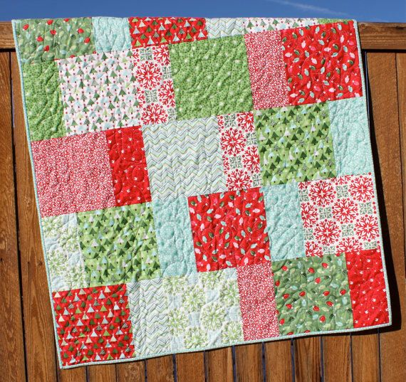 Aqua Christmas Quilt, JOY Quilt, Snowflake Quilt, Red Green White ... : red snowflake quilt - Adamdwight.com