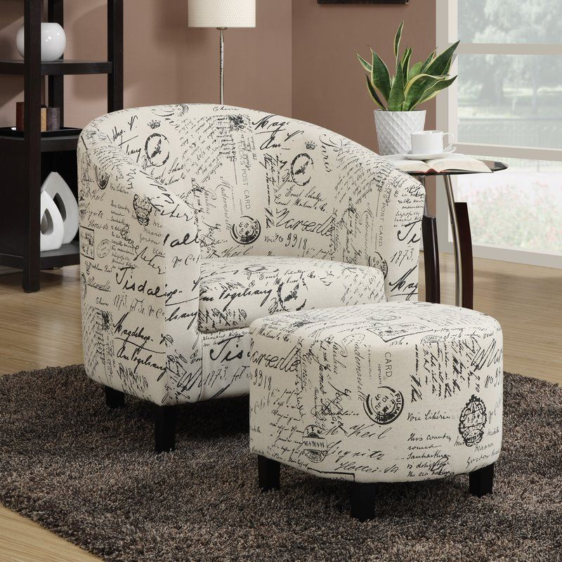Emory Barrel Chair With Ottoman Chair And Ottoman Set Chair And