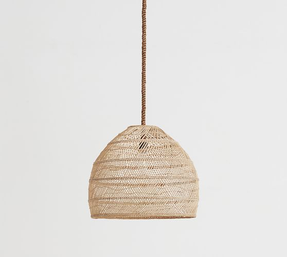 rattan pendant lighting. woven of natural materials the flora rattan pendant adds softly diffused light to a room lighting