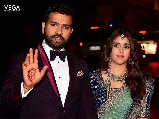 Vega entertainment wishing the couple #rohitsharma and #ritikasajdeh