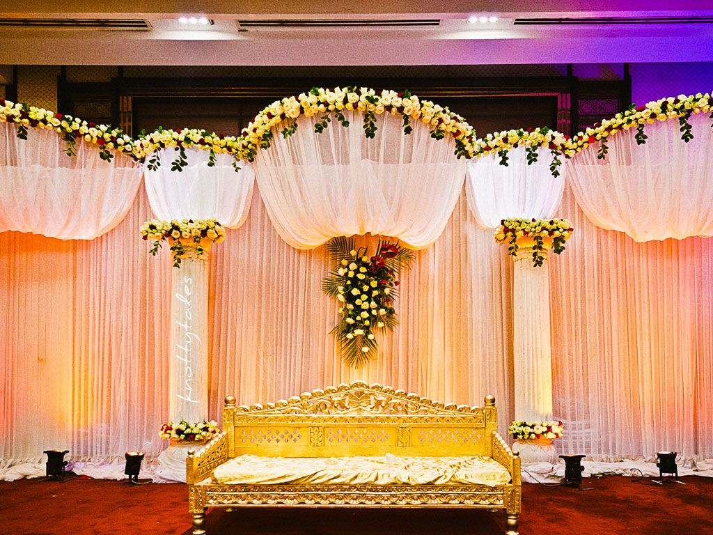 Cheap wedding decorations indian wedding decorations for Wedding hall decoration photos