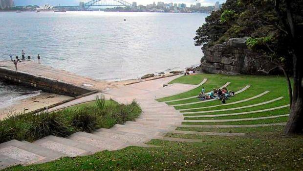 Craig Burton's park at Bradleys Head, Sydney Harbour ...