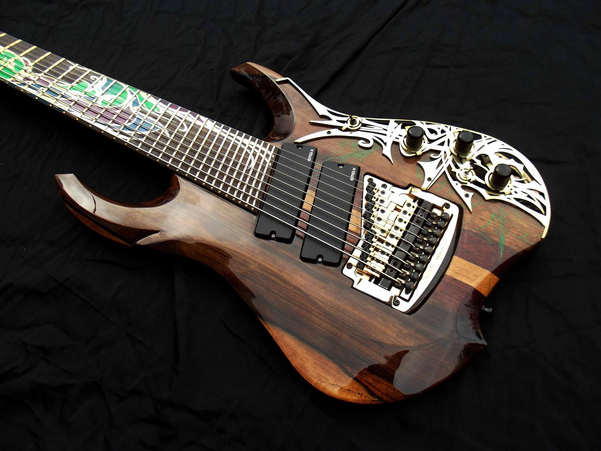 multi scale 9 string from etherial guitars with a customized kahler inspiration pinterest. Black Bedroom Furniture Sets. Home Design Ideas