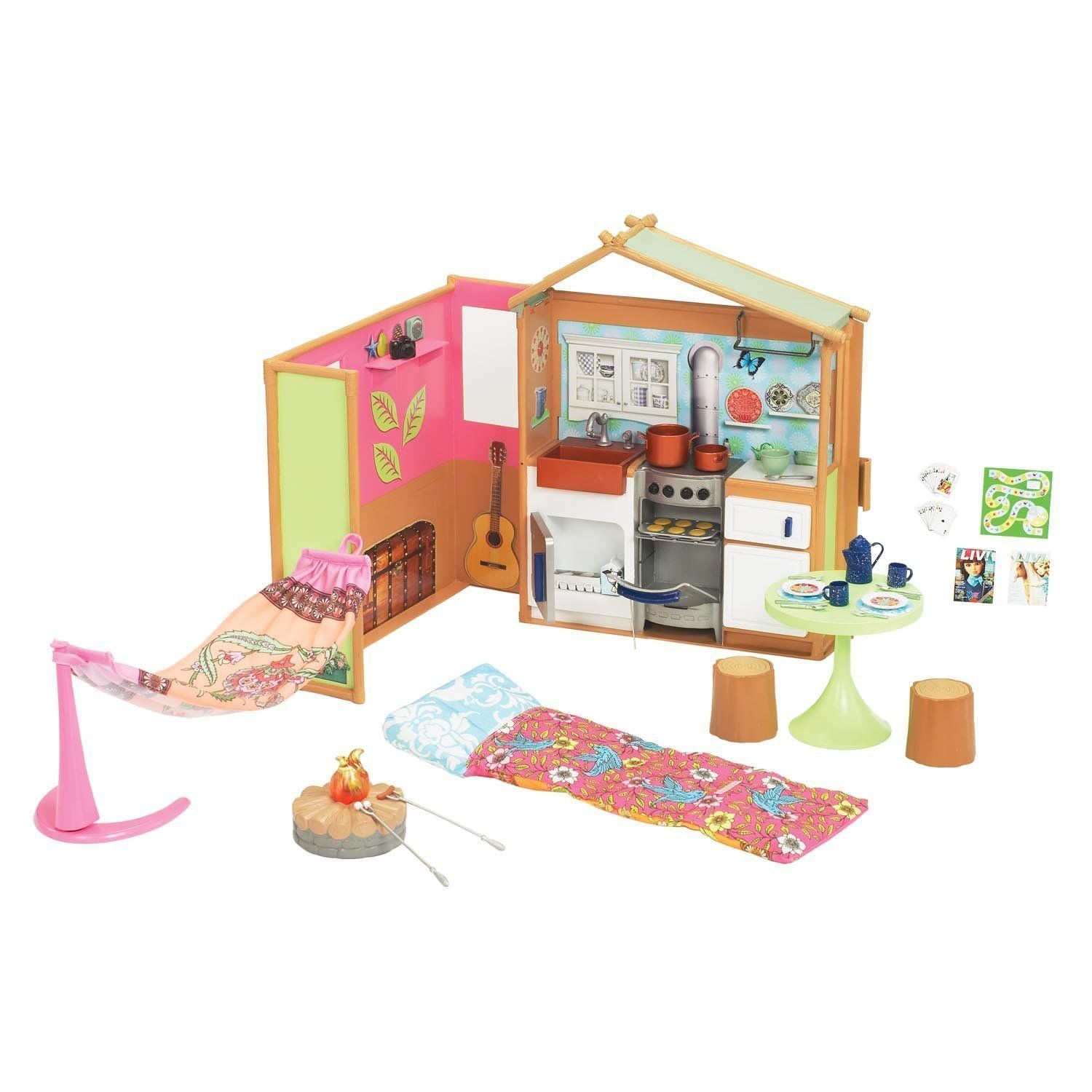 Liv It\'s My Nature Maple Lodge Playset Barbie sized Doll House ...