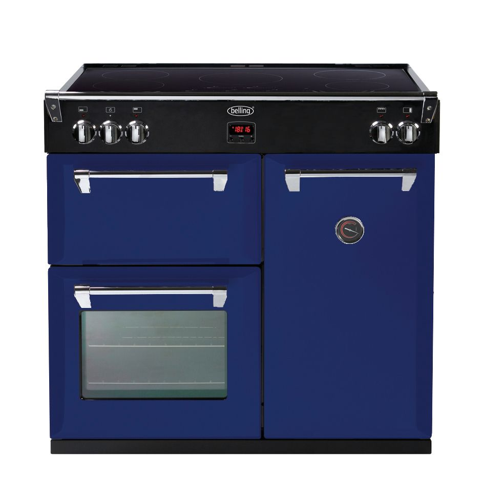 This dark blue cooker & oven is part of the Colour