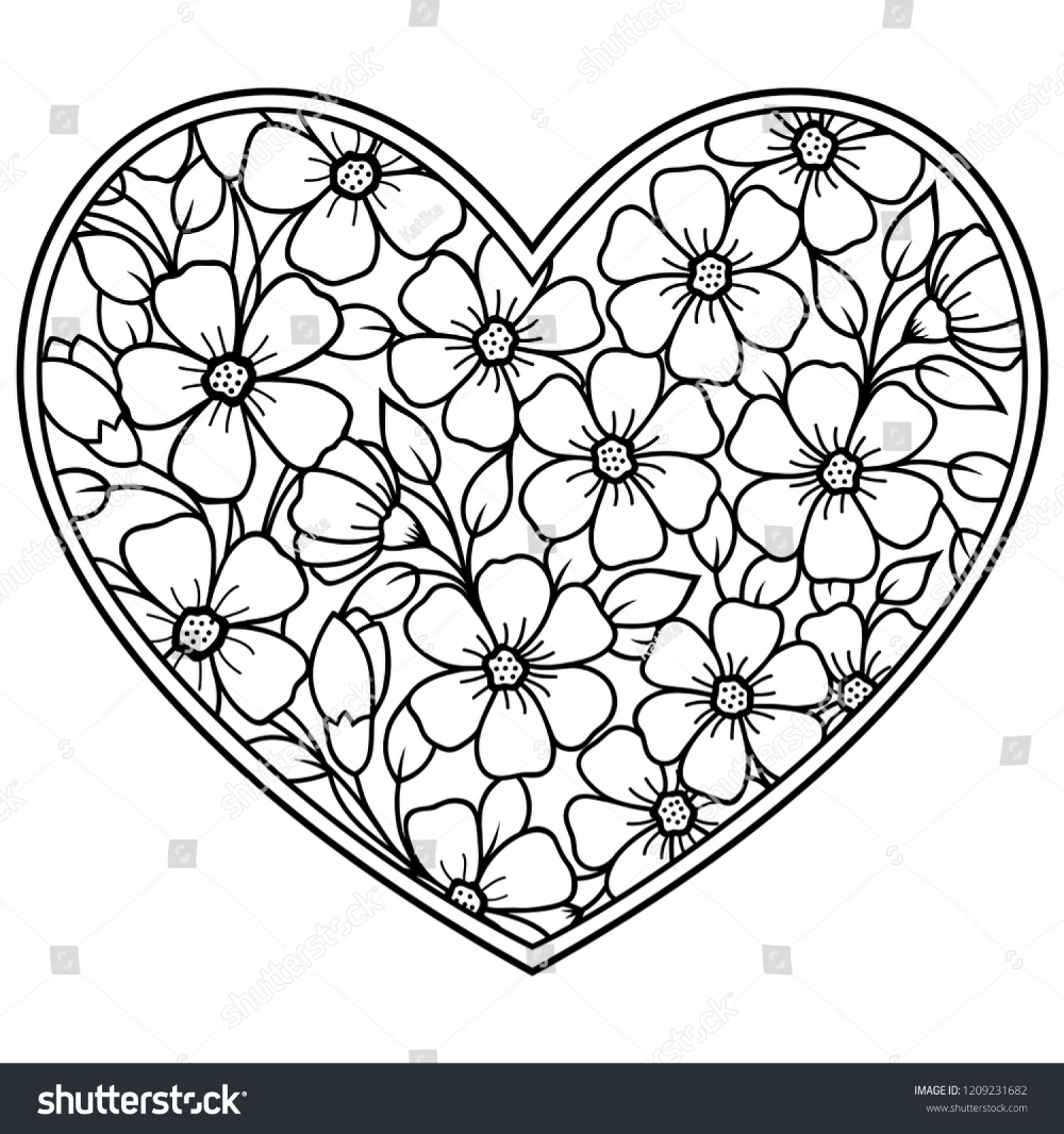 Pin On Heart Coloring Pages