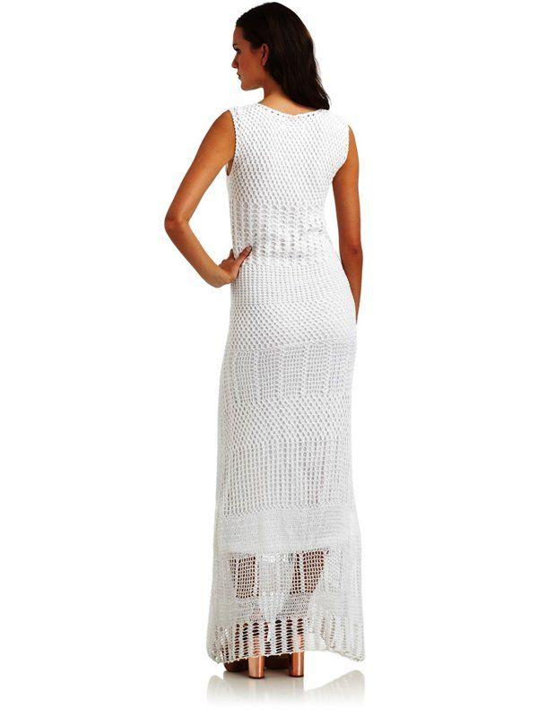 Vestido Branco de Crochet