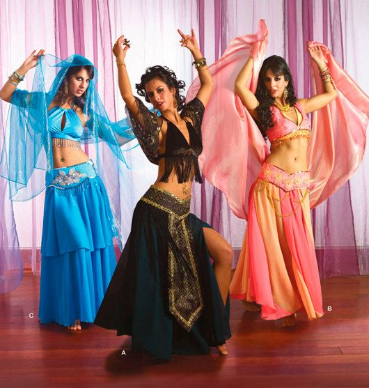 Simplicity Costume Pattern 2158 Ms Belly Dancer ~ Bollywood Outfits