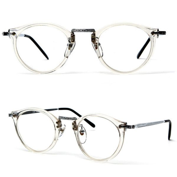 80s James Keyhole Round Frame Wayfarer Clear glasses | Eyewear ...