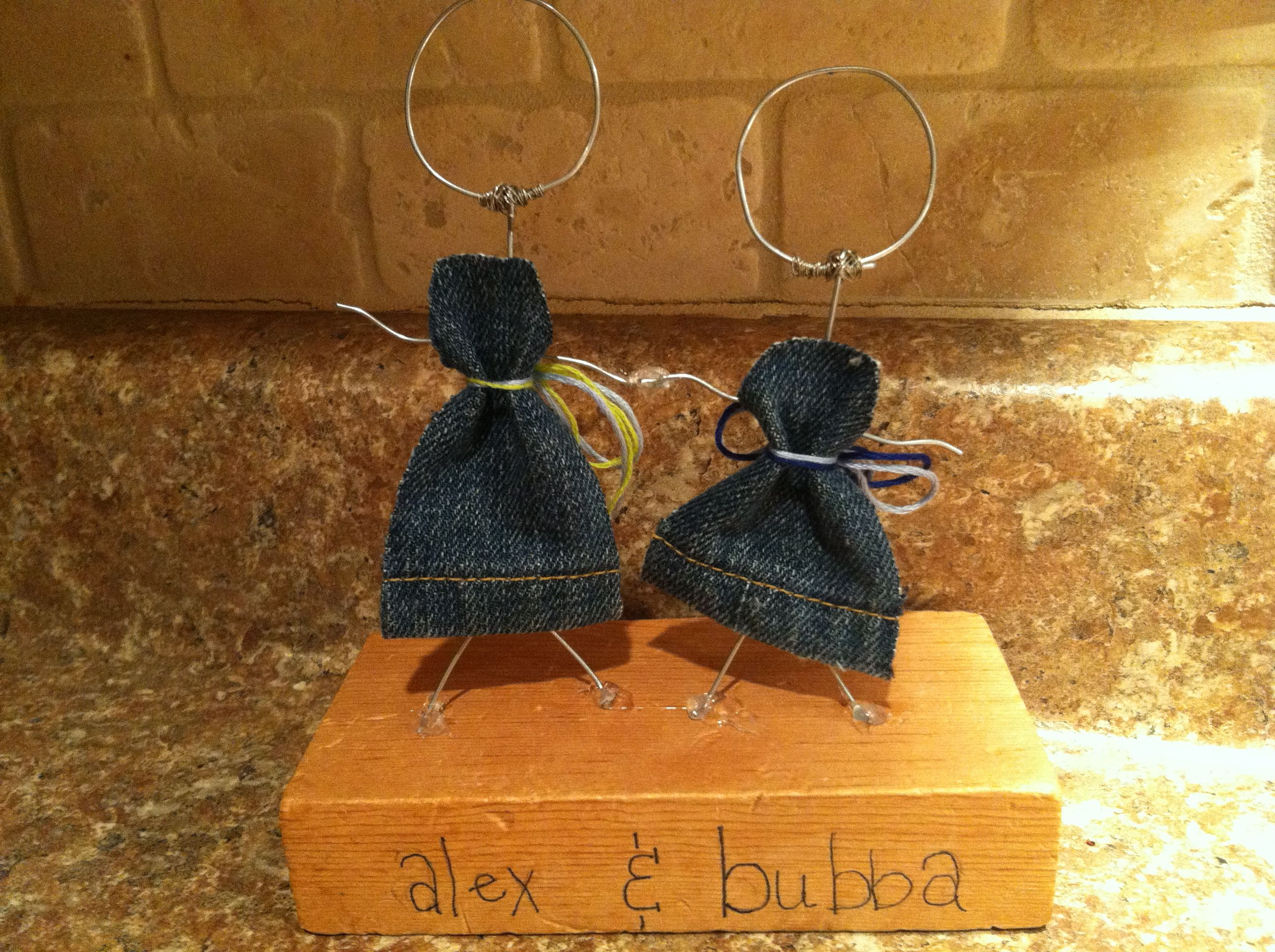 These are my wire stick people! I made this for my best friend. I ...