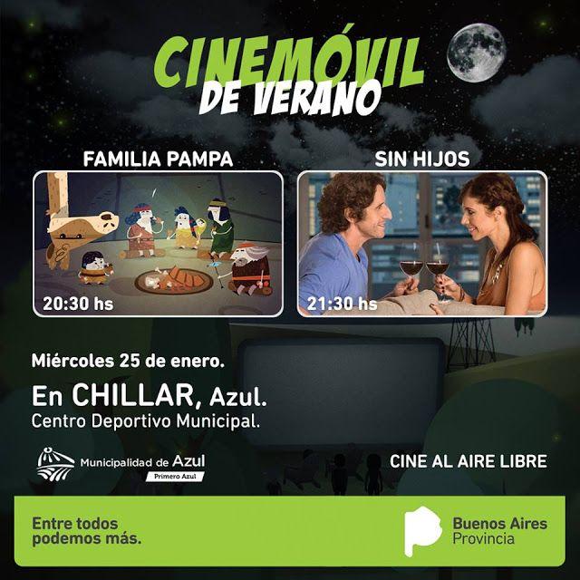 Cine móvil para grandes y chicos en Chillar  El Ministerio de Gestión Cultural -a través del área ...