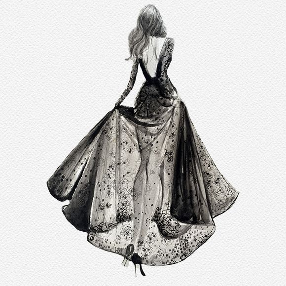 The light of now haute couture dessin robe dessin de - Dessin de couture ...
